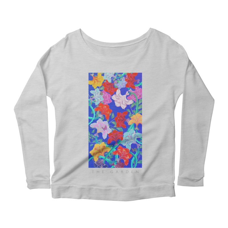 THE GARDEN Women's Longsleeve Scoopneck  by mu's Artist Shop