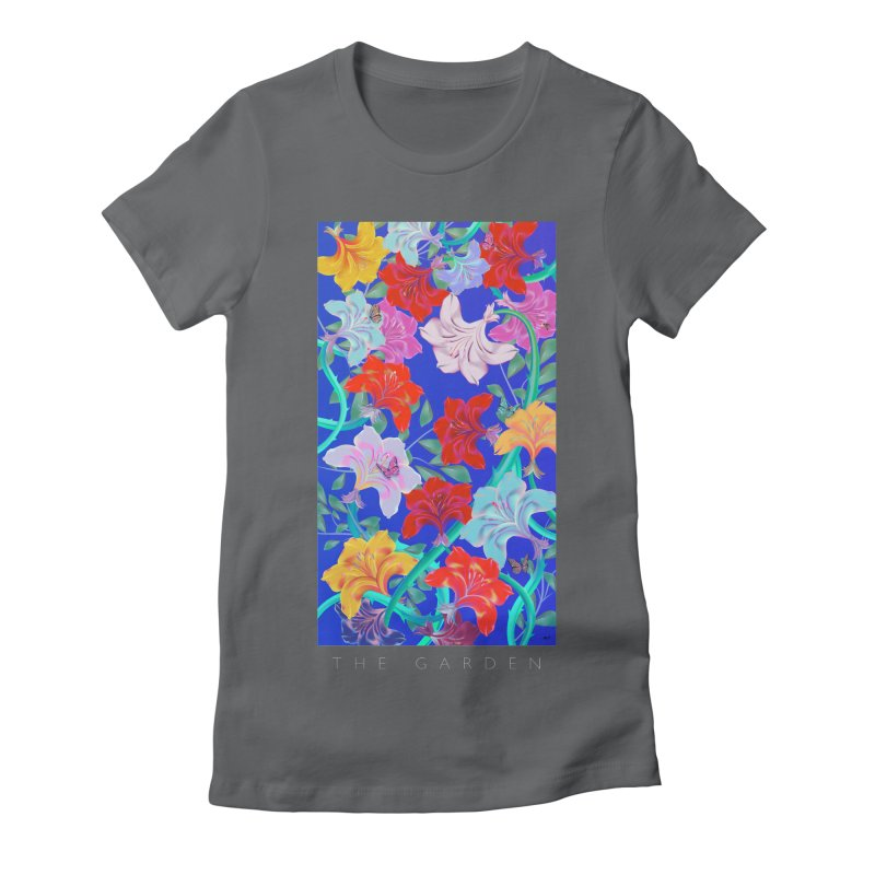 THE GARDEN Women's Fitted T-Shirt by mu's Artist Shop