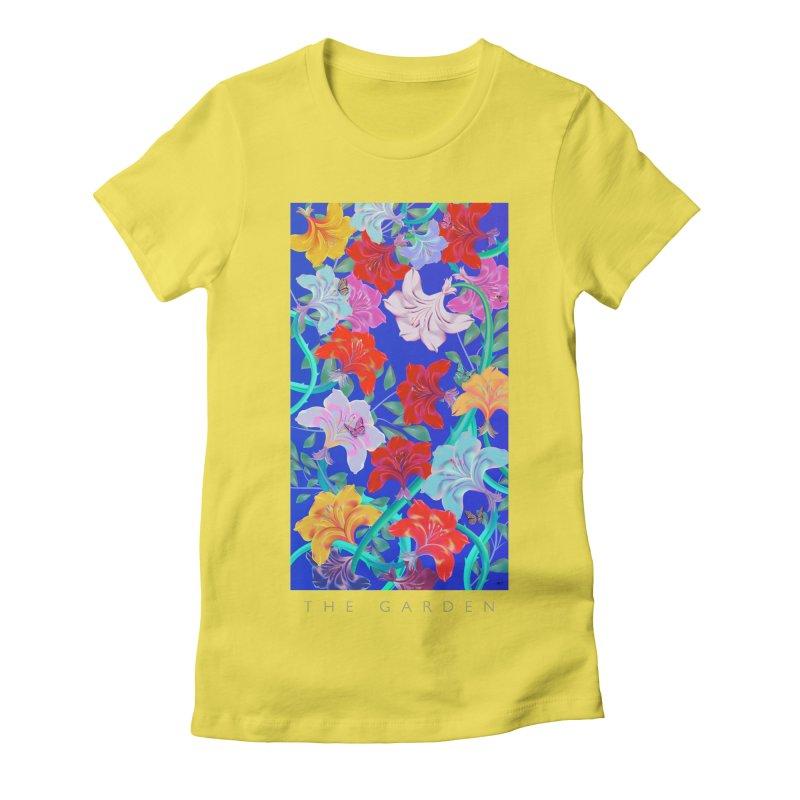 THE GARDEN Women's Fitted T-Shirt by mu's Artist Shop