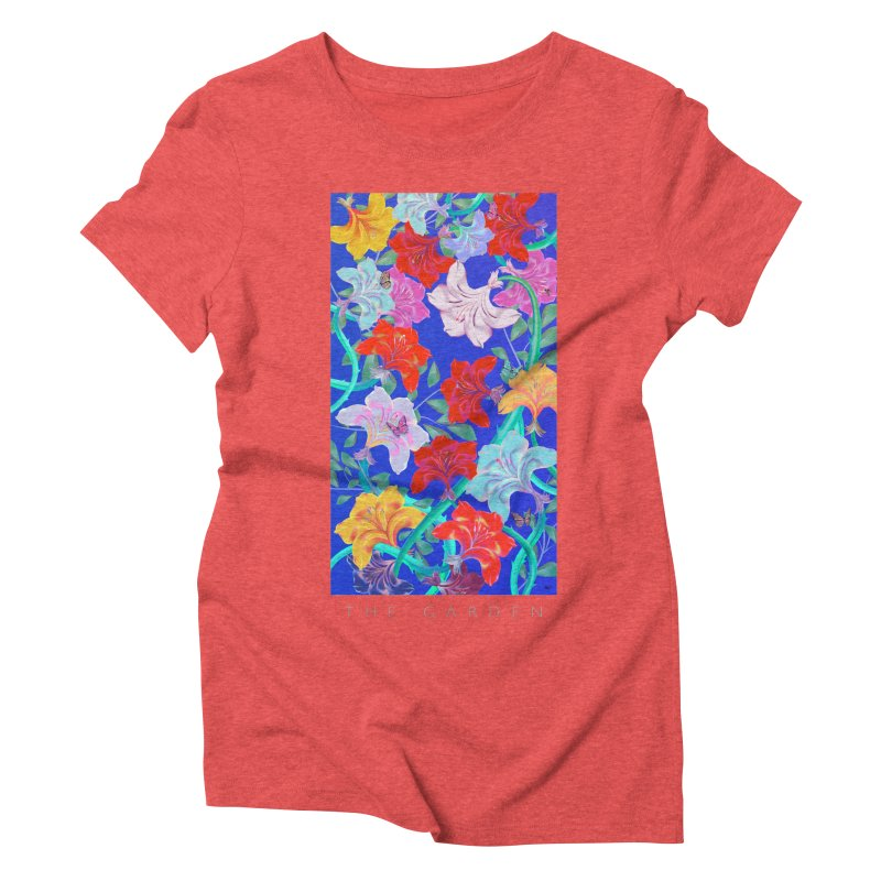 THE GARDEN Women's Triblend T-Shirt by mu's Artist Shop