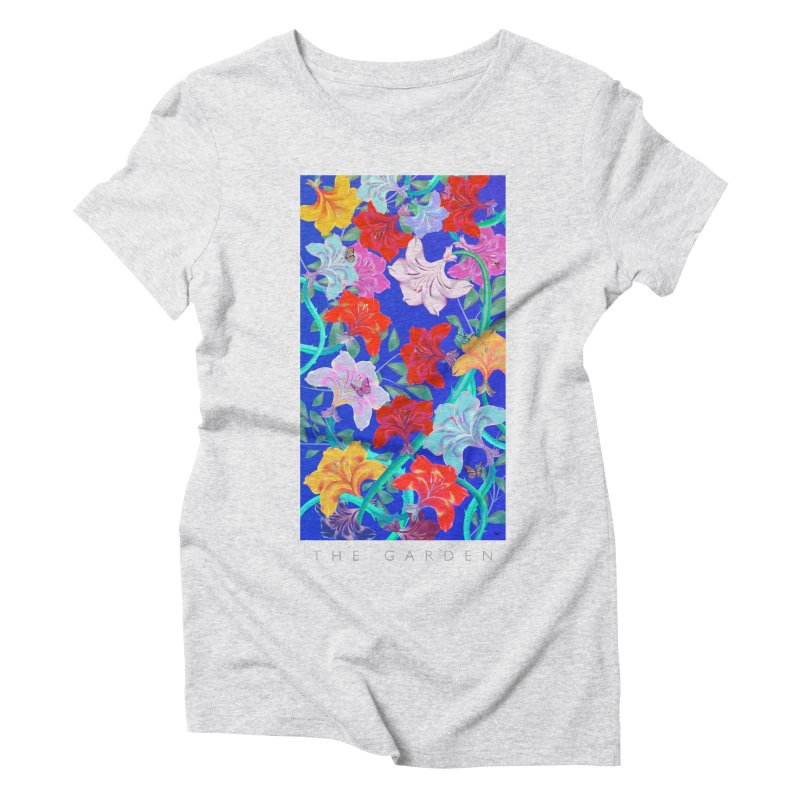 THE GARDEN in Women's Triblend T-Shirt Heather White by mu's Artist Shop