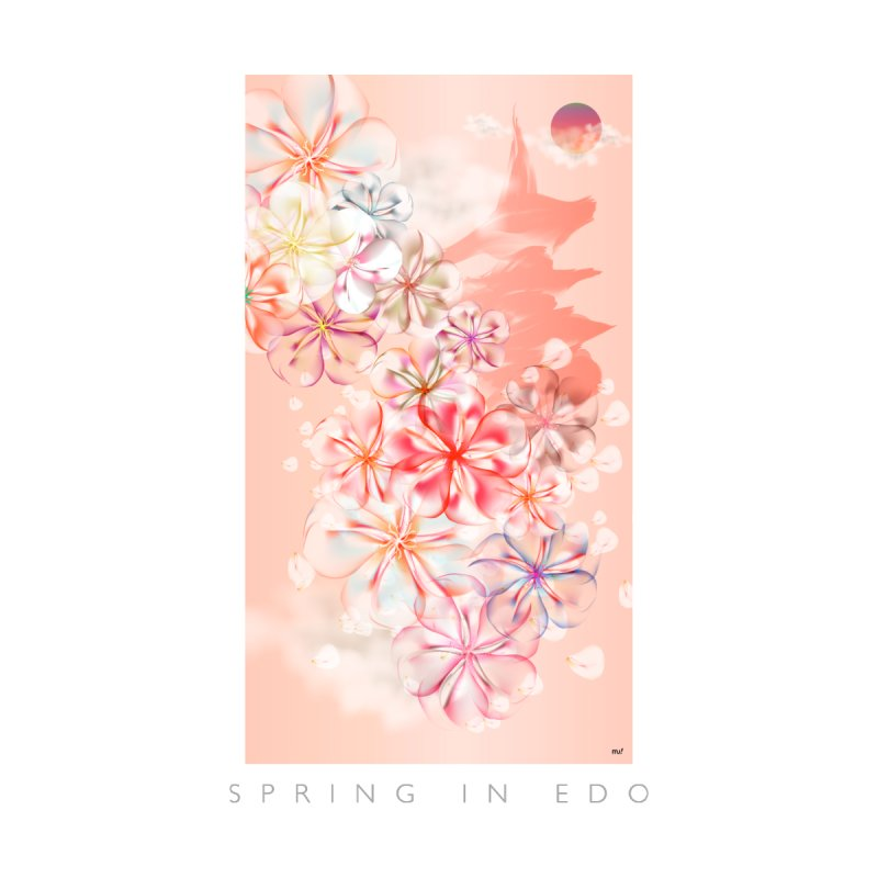 SPRING IN EDO Women's V-Neck by mu's Artist Shop