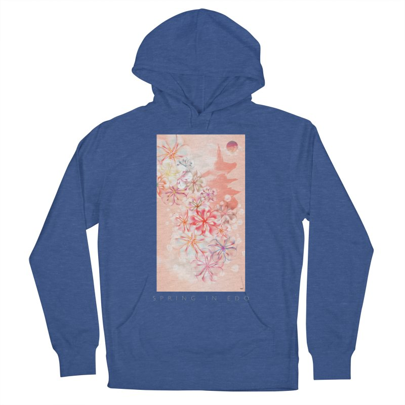 SPRING IN EDO Women's French Terry Pullover Hoody by mu's Artist Shop