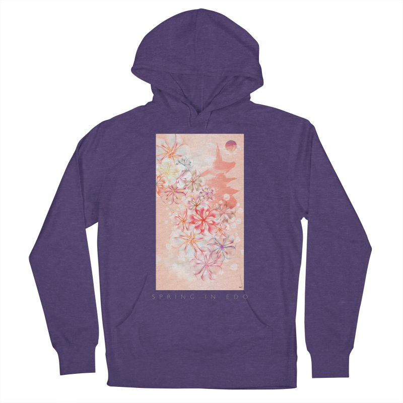 SPRING IN EDO Men's French Terry Pullover Hoody by mu's Artist Shop