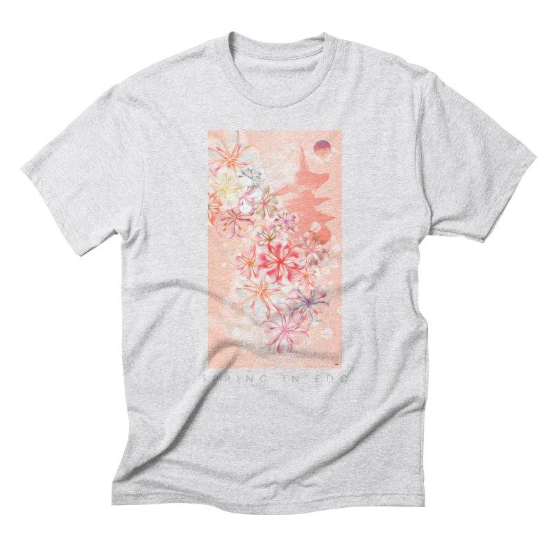 SPRING IN EDO Men's Triblend T-Shirt by mu's Artist Shop