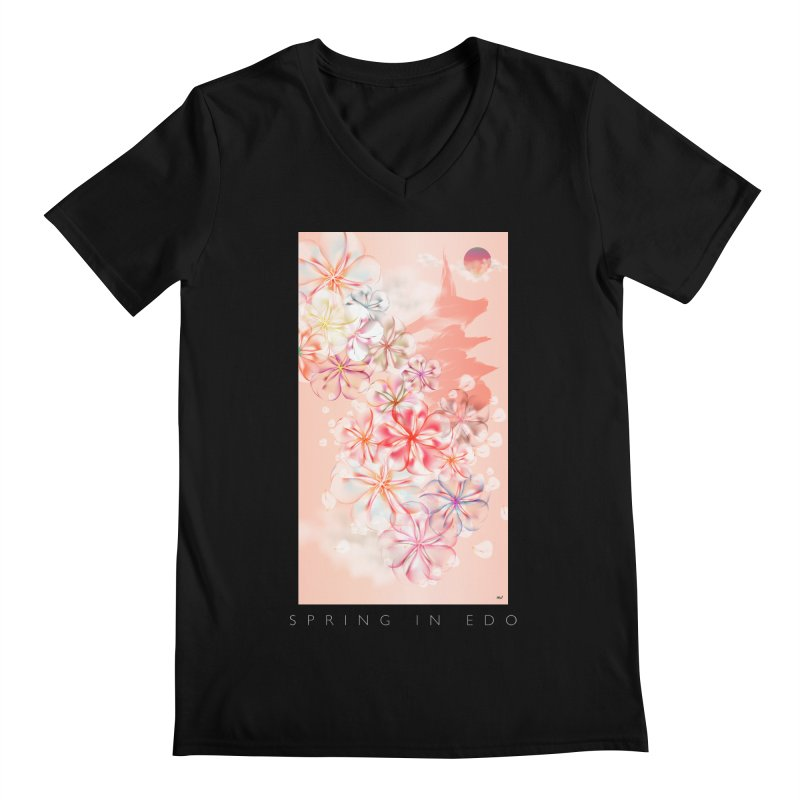 SPRING IN EDO Men's Regular V-Neck by mu's Artist Shop