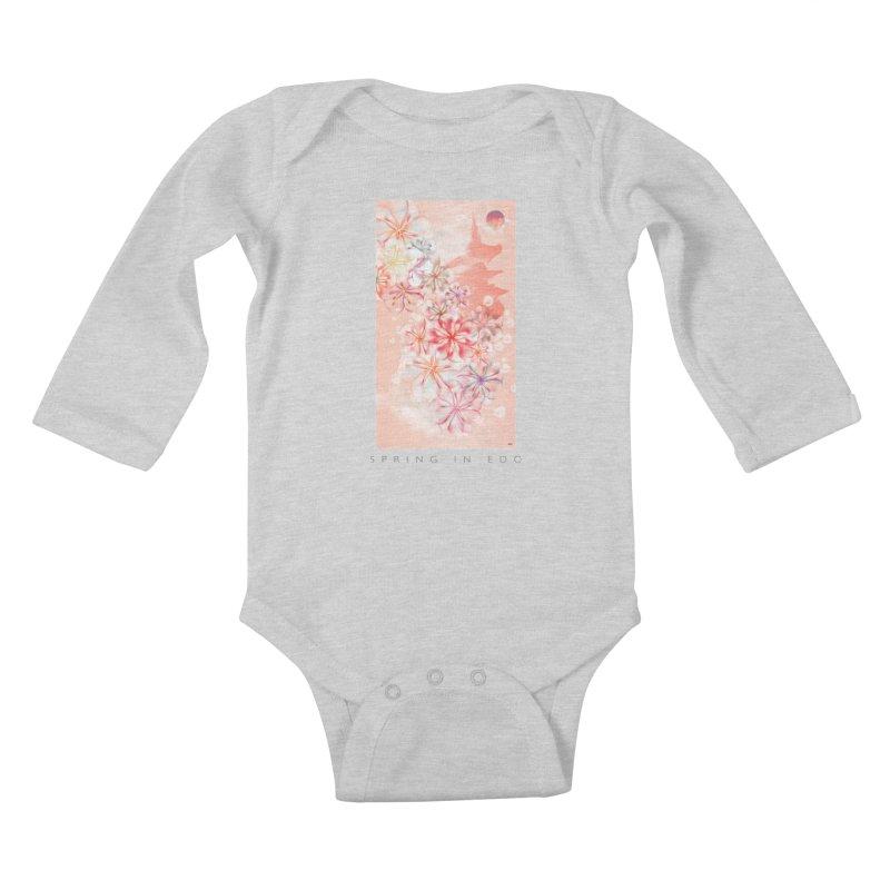 SPRING IN EDO Kids Baby Longsleeve Bodysuit by mu's Artist Shop