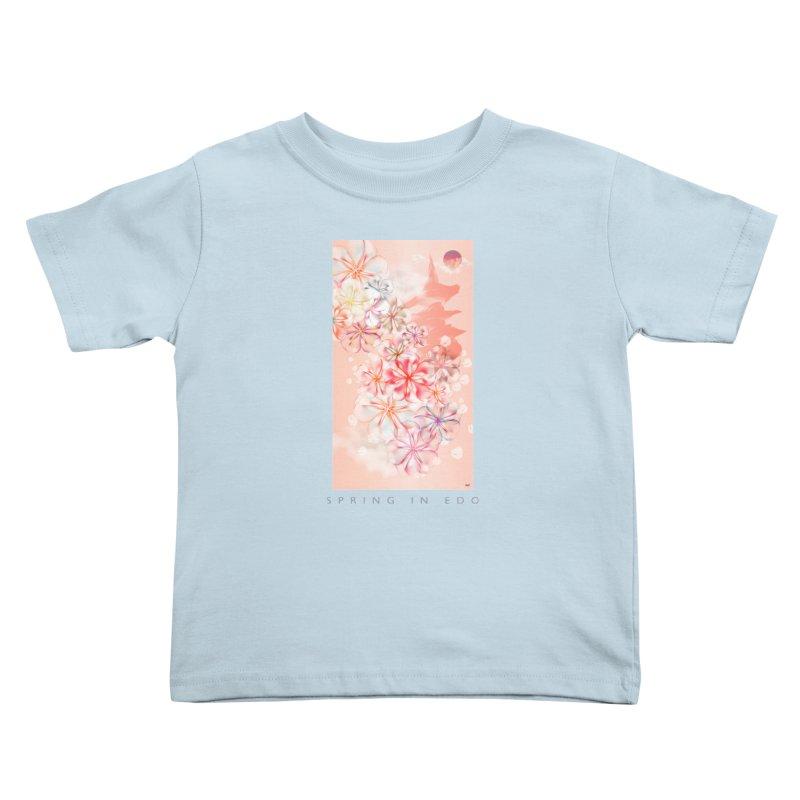 SPRING IN EDO Kids Toddler T-Shirt by mu's Artist Shop