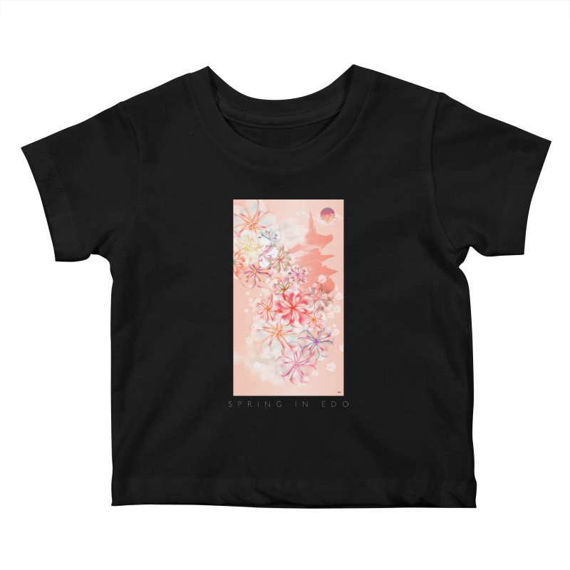 SPRING IN EDO Kids Baby T-Shirt by mu's Artist Shop