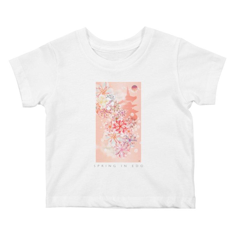 SPRING IN EDO Kids Baby T-Shirt by mu's Artist Shop