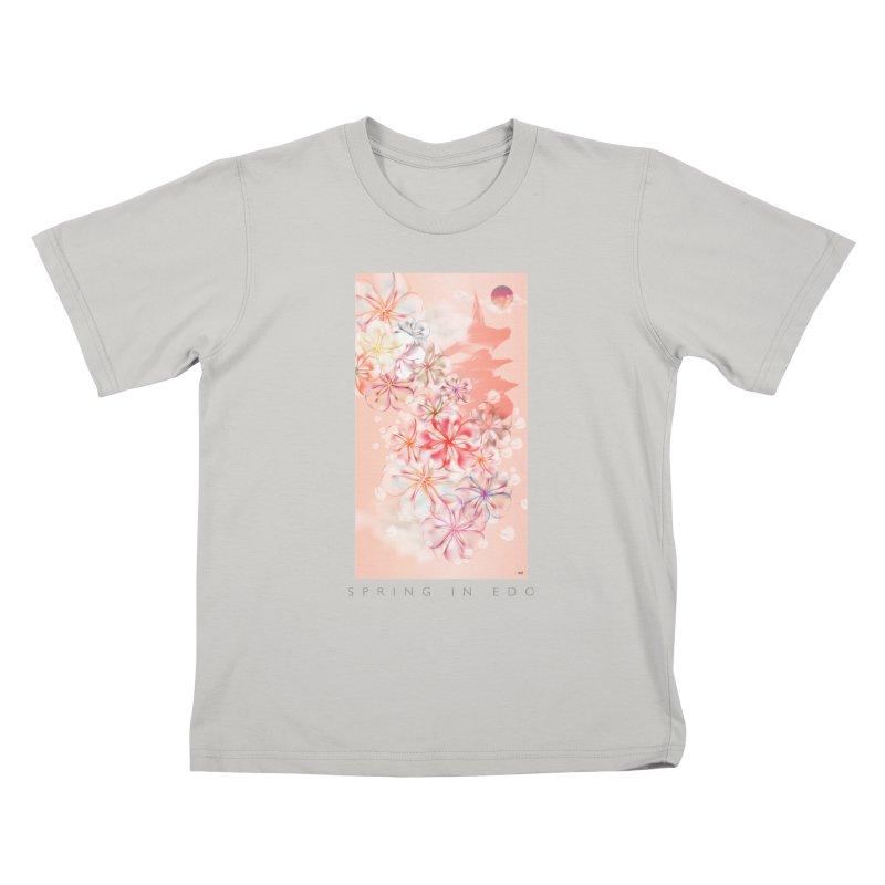 SPRING IN EDO Kids T-Shirt by mu's Artist Shop