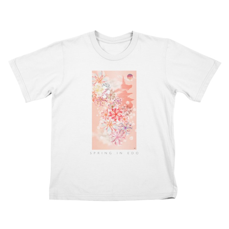 SPRING IN EDO Kids T-Shirt by mu's Artist Shop