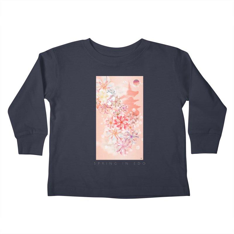 SPRING IN EDO Kids Toddler Longsleeve T-Shirt by mu's Artist Shop