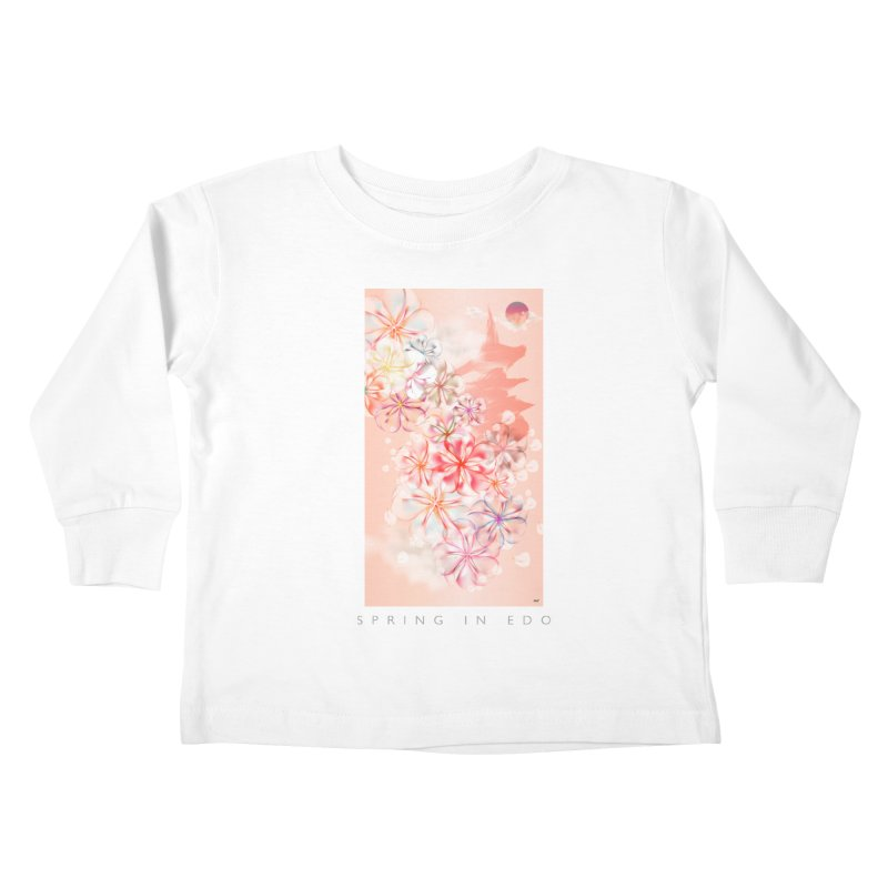SPRING IN EDO Kids Toddler Longsleeve T-Shirt by mu's Artist Shop