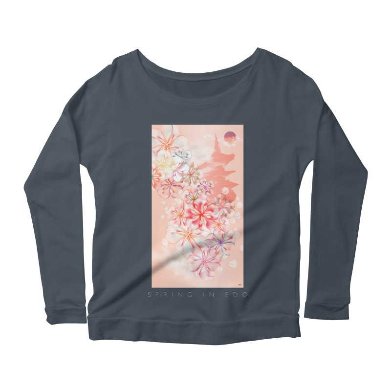 SPRING IN EDO Women's Scoop Neck Longsleeve T-Shirt by mu's Artist Shop