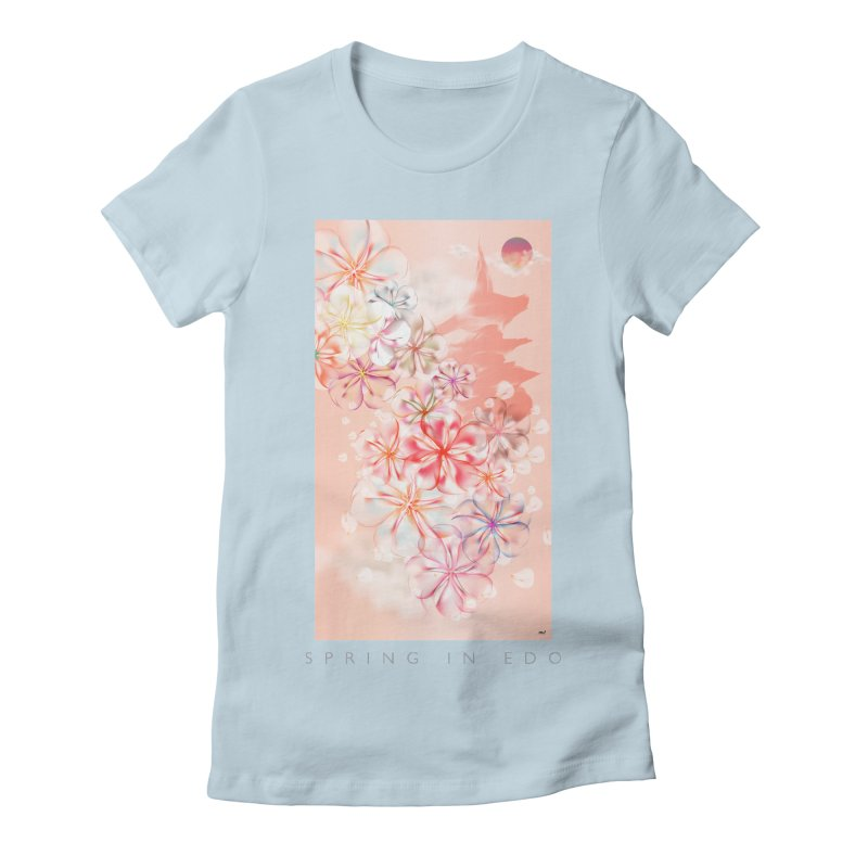 SPRING IN EDO Women's Fitted T-Shirt by mu's Artist Shop