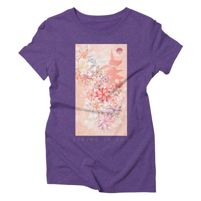 SPRING IN EDO Women's Triblend T-Shirt by mu's Artist Shop