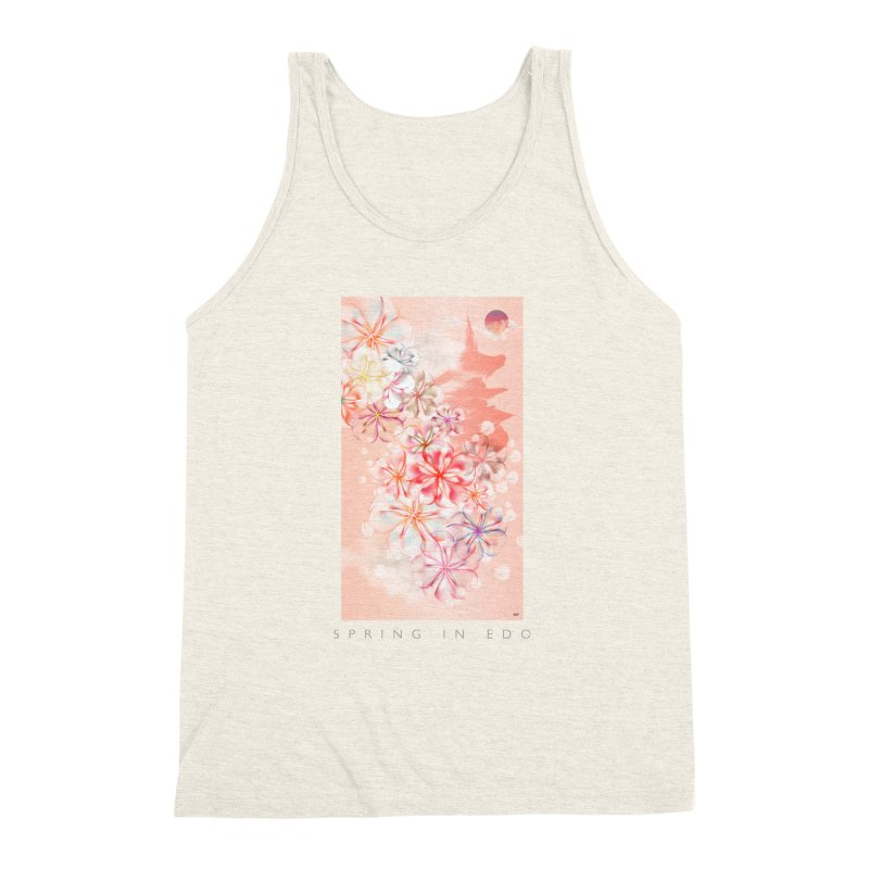 SPRING IN EDO Men's Triblend Tank by mu's Artist Shop