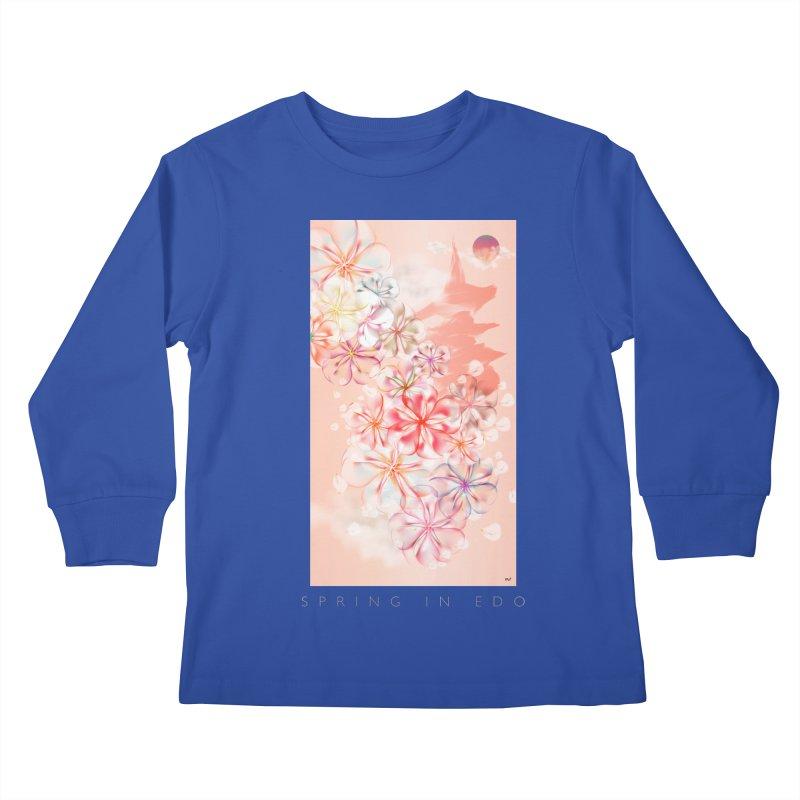 SPRING IN EDO Kids Longsleeve T-Shirt by mu's Artist Shop