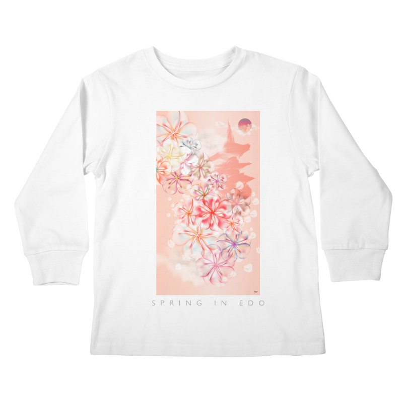 SPRING IN EDO Kids Longsleeve T-Shirt by mu's Artist Shop