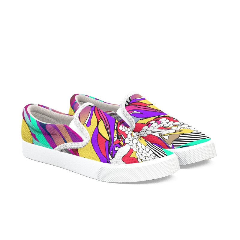 BILINGUAL GROOVE Women's Slip-On Shoes by mu's Artist Shop