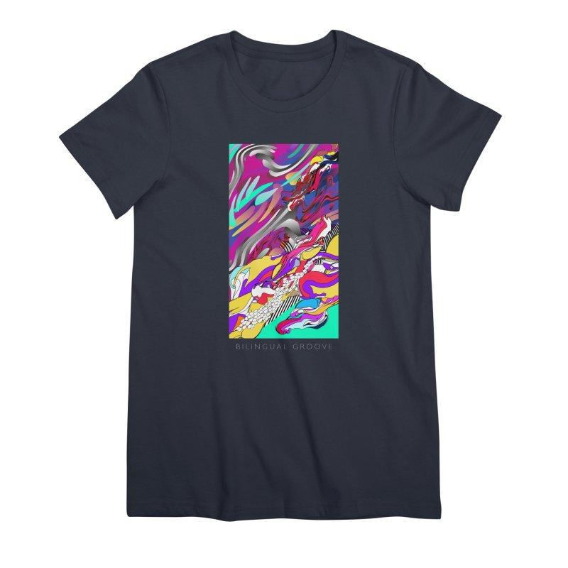 BILINGUAL GROOVE Women's Premium T-Shirt by mu's Artist Shop