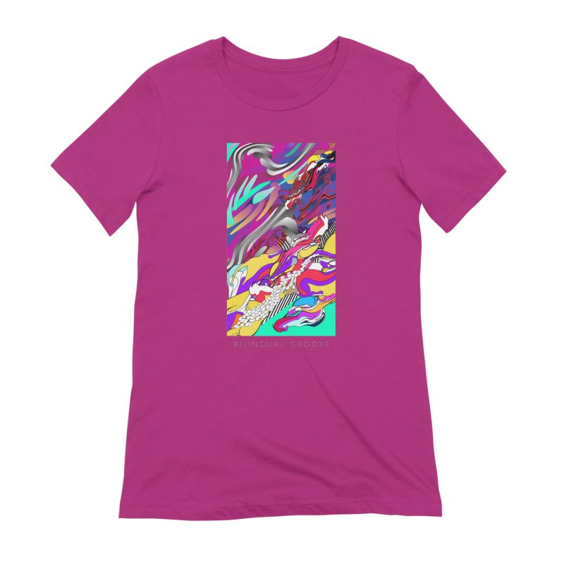 BILINGUAL GROOVE Women's Extra Soft T-Shirt by mu's Artist Shop