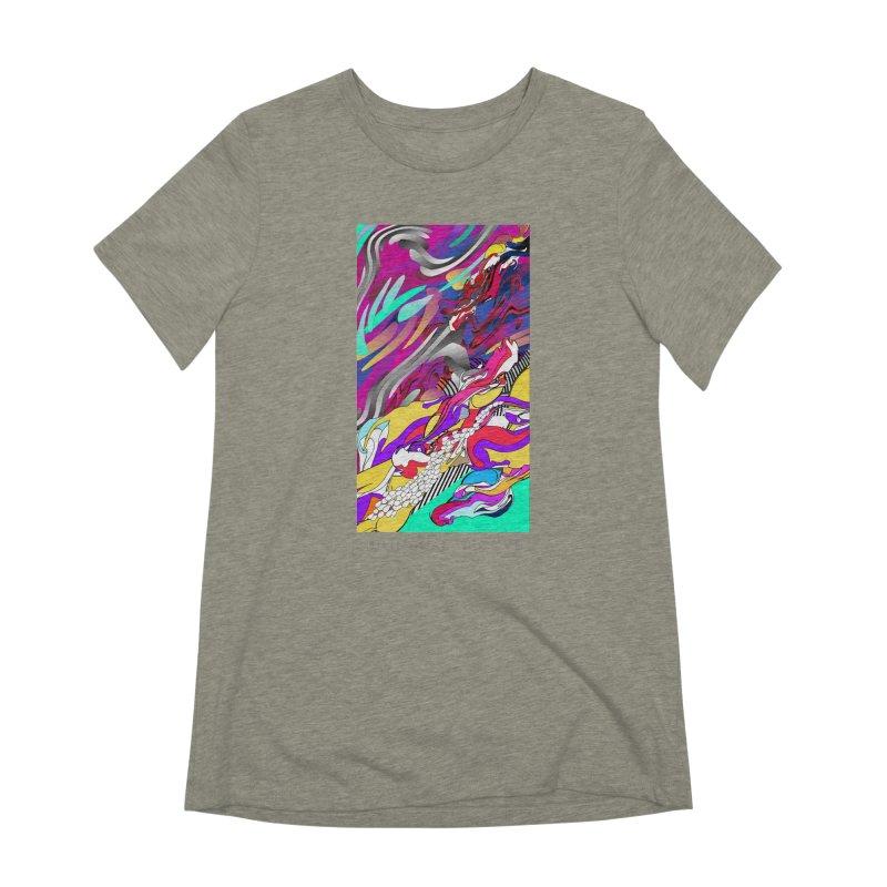 BILINGUAL GROOVE Women's Extra Soft T-Shirt by mu's Artist Shop