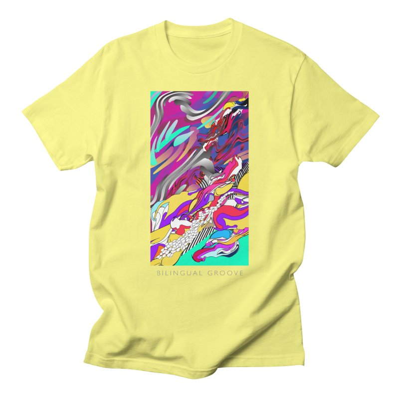 BILINGUAL GROOVE Men's T-Shirt by mu's Artist Shop