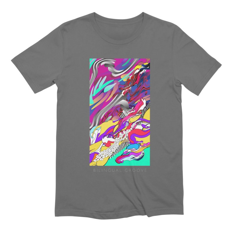 BILINGUAL GROOVE Men's Extra Soft T-Shirt by mu's Artist Shop