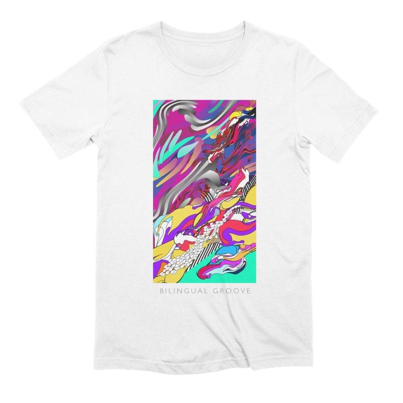 BILINGUAL GROOVE Men's Extra Soft T-Shirt by mu's Artist Shop