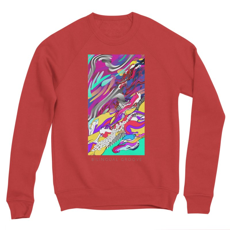 BILINGUAL GROOVE Men's Sponge Fleece Sweatshirt by mu's Artist Shop