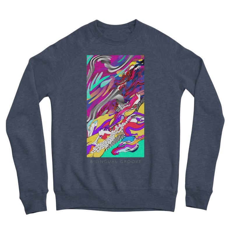 BILINGUAL GROOVE Women's Sponge Fleece Sweatshirt by mu's Artist Shop