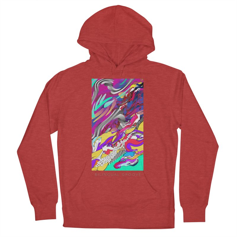 BILINGUAL GROOVE Women's French Terry Pullover Hoody by mu's Artist Shop