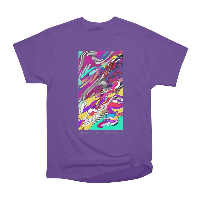 BILINGUAL GROOVE Women's Heavyweight Unisex T-Shirt by mu's Artist Shop