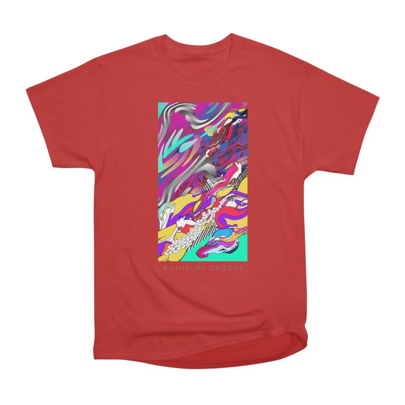 BILINGUAL GROOVE Men's Heavyweight T-Shirt by mu's Artist Shop