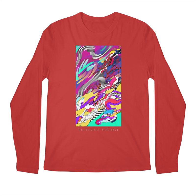 BILINGUAL GROOVE Men's Longsleeve T-Shirt by mu's Artist Shop