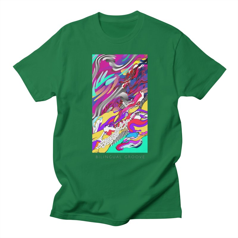 BILINGUAL GROOVE Men's Regular T-Shirt by mu's Artist Shop
