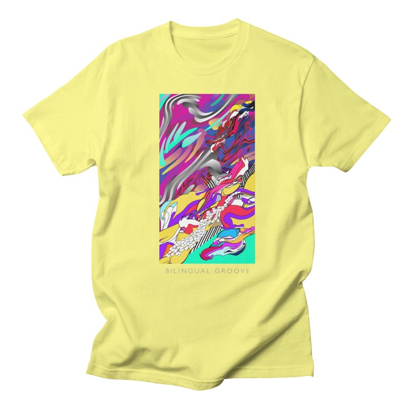 BILINGUAL GROOVE in Men's T-Shirt Lemon by mu's Artist Shop