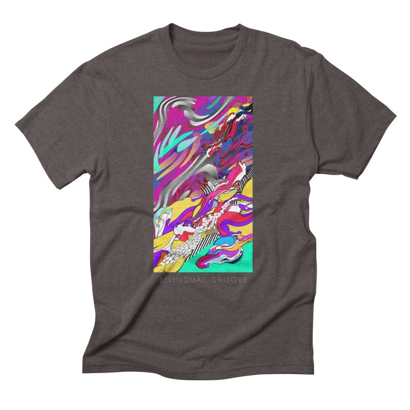 BILINGUAL GROOVE Men's Triblend T-Shirt by mu's Artist Shop