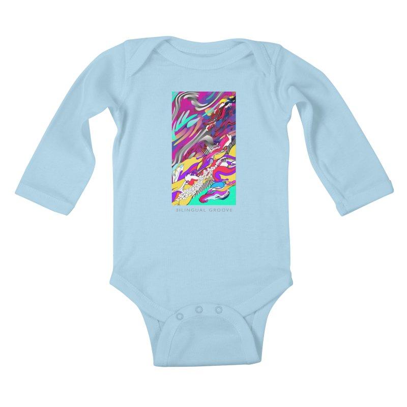 BILINGUAL GROOVE Kids Baby Longsleeve Bodysuit by mu's Artist Shop
