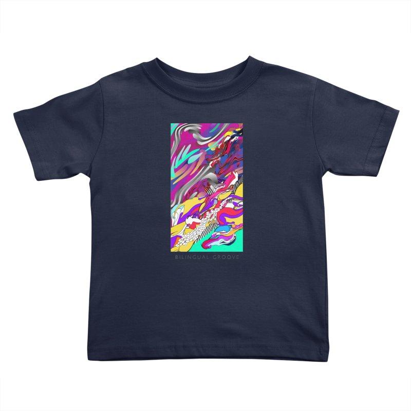 BILINGUAL GROOVE Kids Toddler T-Shirt by mu's Artist Shop