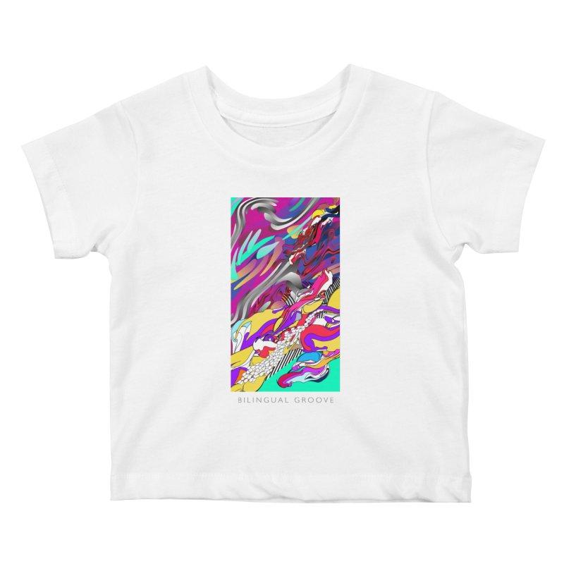 BILINGUAL GROOVE Kids Baby T-Shirt by mu's Artist Shop