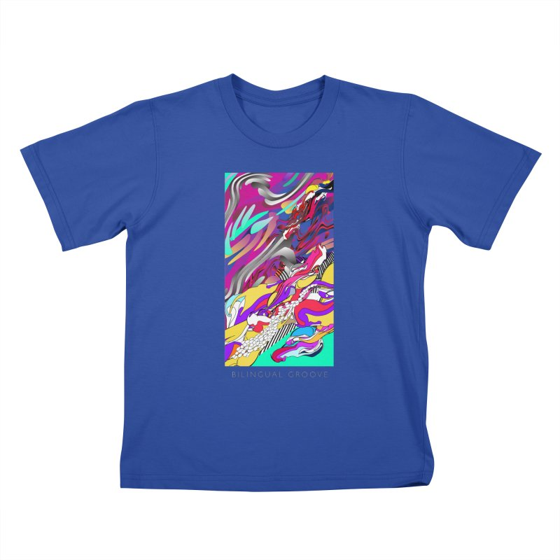 BILINGUAL GROOVE Kids T-Shirt by mu's Artist Shop