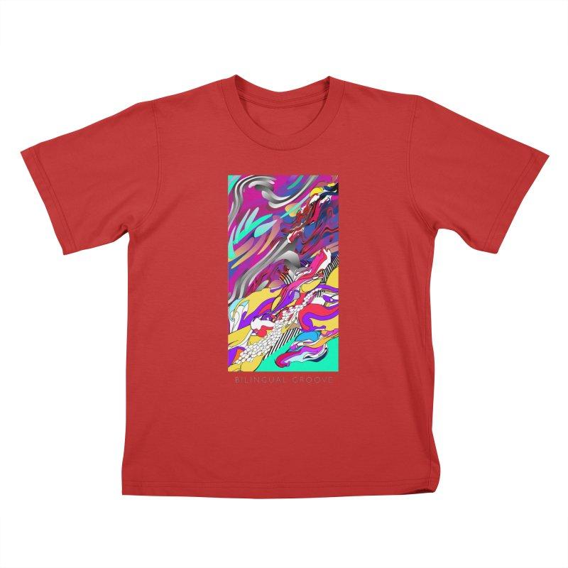 BILINGUAL GROOVE Kids T-Shirt by mu's Artist Shop
