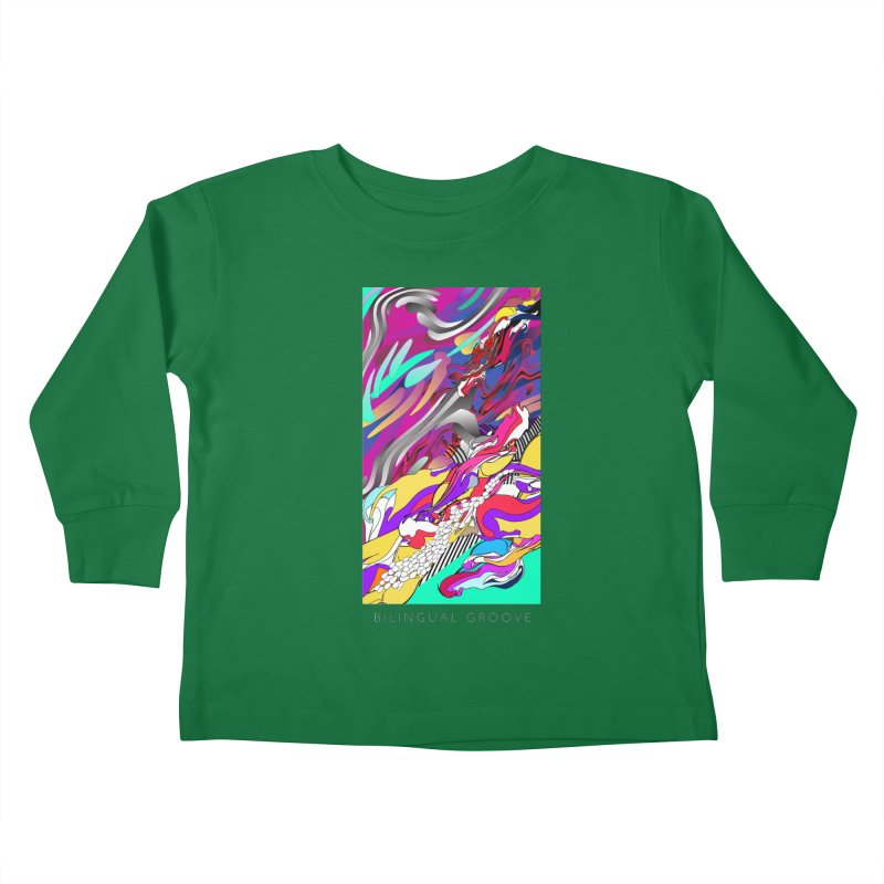 BILINGUAL GROOVE Kids Toddler Longsleeve T-Shirt by mu's Artist Shop
