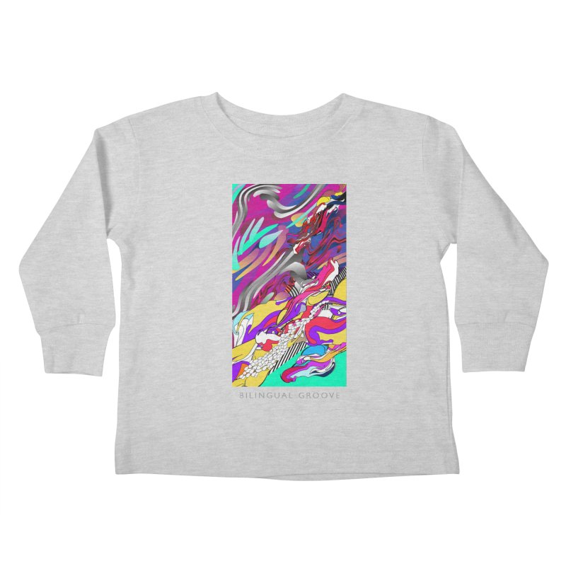 BILINGUAL GROOVE Kids Toddler Longsleeve T-Shirt by mu's Artist Shop