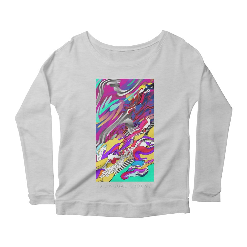 BILINGUAL GROOVE Women's Scoop Neck Longsleeve T-Shirt by mu's Artist Shop