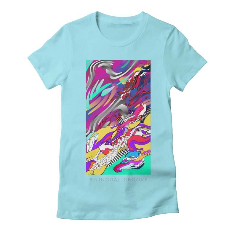 BILINGUAL GROOVE Women's Fitted T-Shirt by mu's Artist Shop