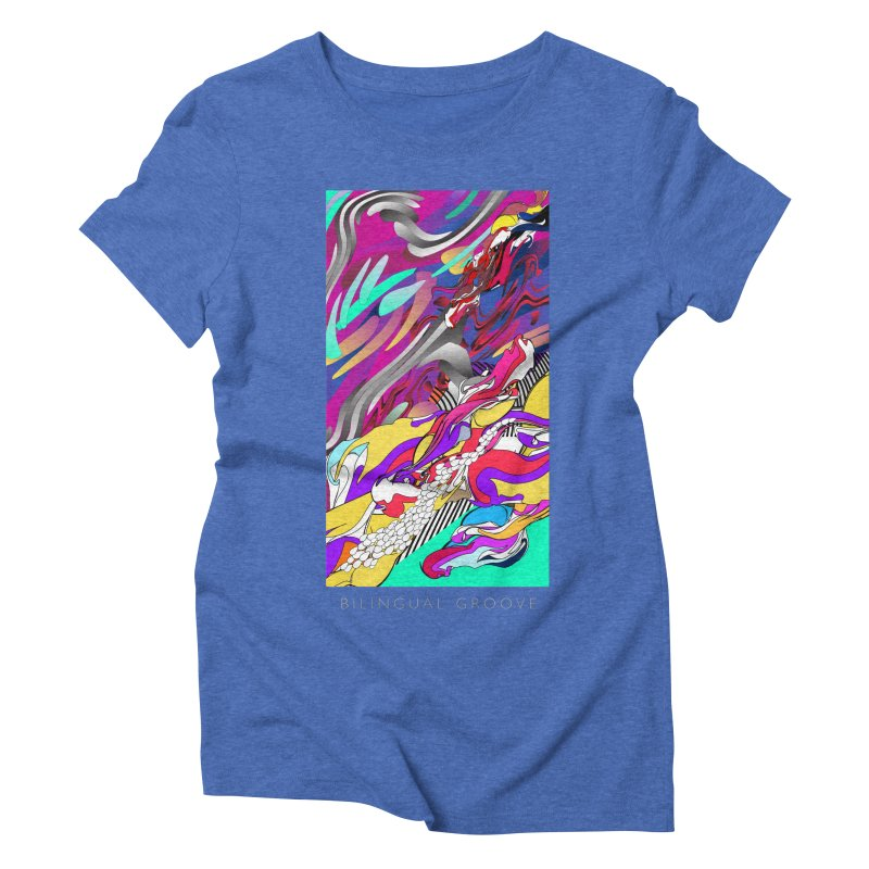 BILINGUAL GROOVE Women's Triblend T-Shirt by mu's Artist Shop